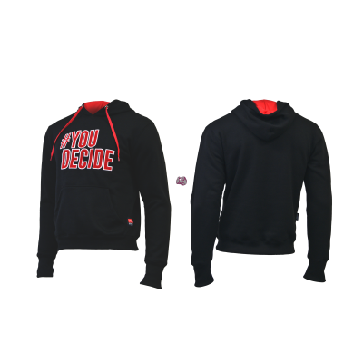"SUDADERA ""YOU DECIDE"" Color Negro"