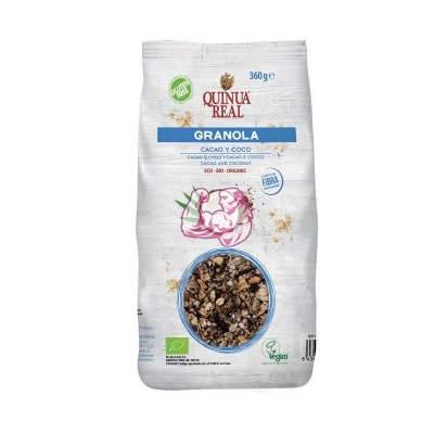 Granola de Quinua Real con cacao y coco 360Gr.