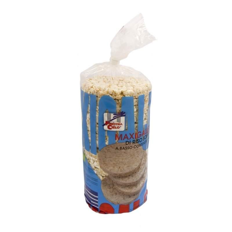 Maxitortitas de arroz sin sal añadida