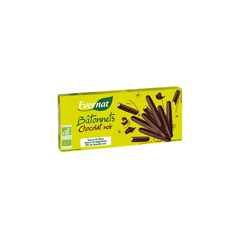 Palitos de pan integral con chocolate negro ecologicos