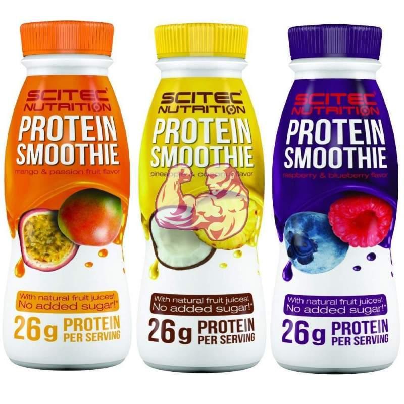 Batido de proteinas con zumo de frutas naturales ( protein smoothie )