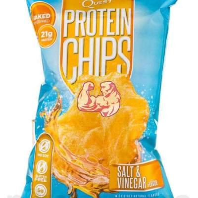 CHIPS DE PROTEÍNA CON SALT & VINEGAR QUEST NUTRITION